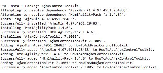 Integrate AjaxControlToolkit 6