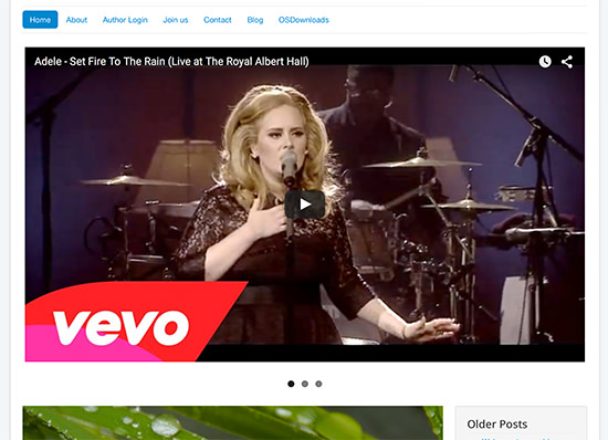 Display Video as Slideshow in Joomla Page 6