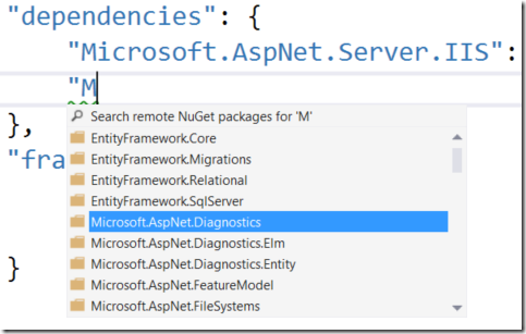 Modifying ASP.NET 5 Project 1