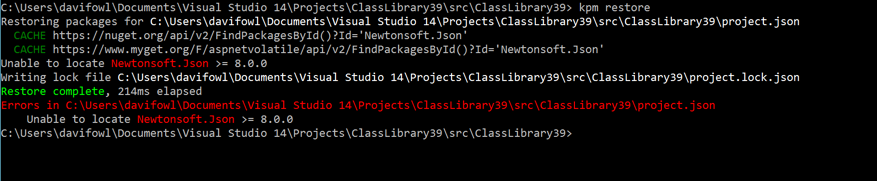 Solve Dependency  Issues Related With ASP.NET 5 (2)
