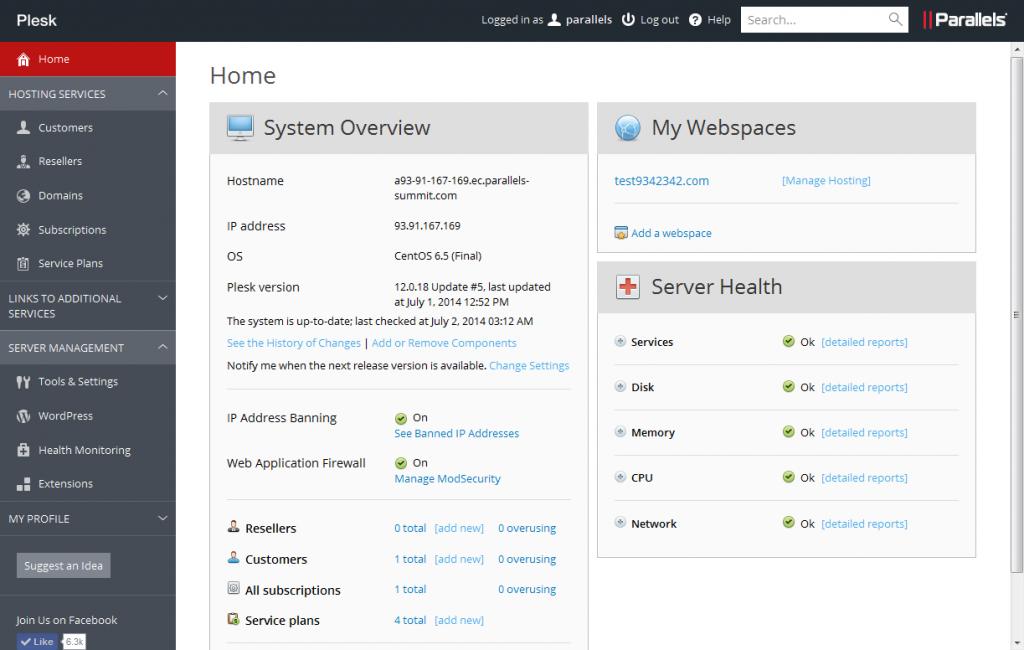 User Friendly Control Panel for ASP.NET Hosting - Plesk