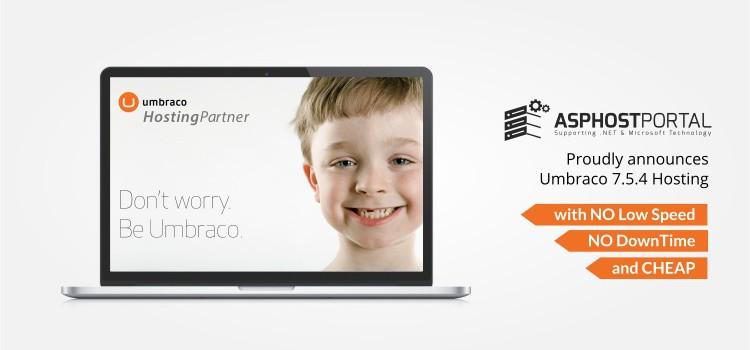 ASPHostPortal.com Announces Umbraco 7.5.4 Hosting Solution