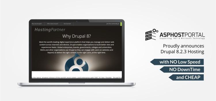 ASPHostPortal.com Announces Drupal 8.2.3 Hosting Solution